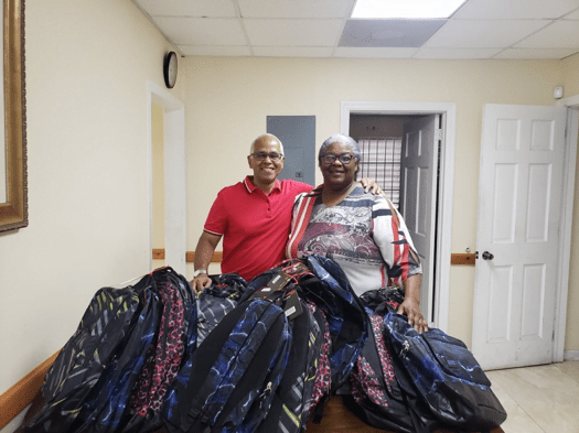 MP delivers school supplies to community