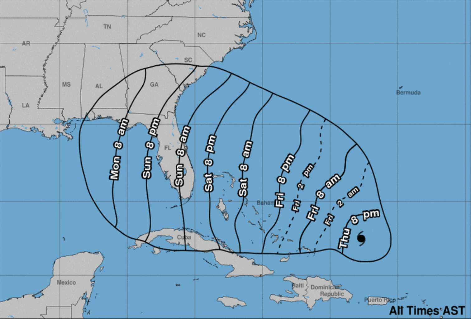 "Dorian set to intensify to ""dangerous hurricane"""