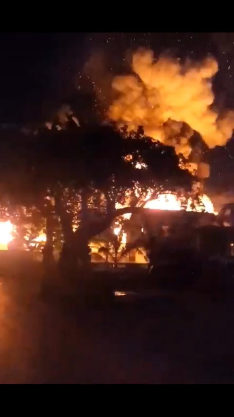 BREAKING: Gas truck ablaze in Harbour Island