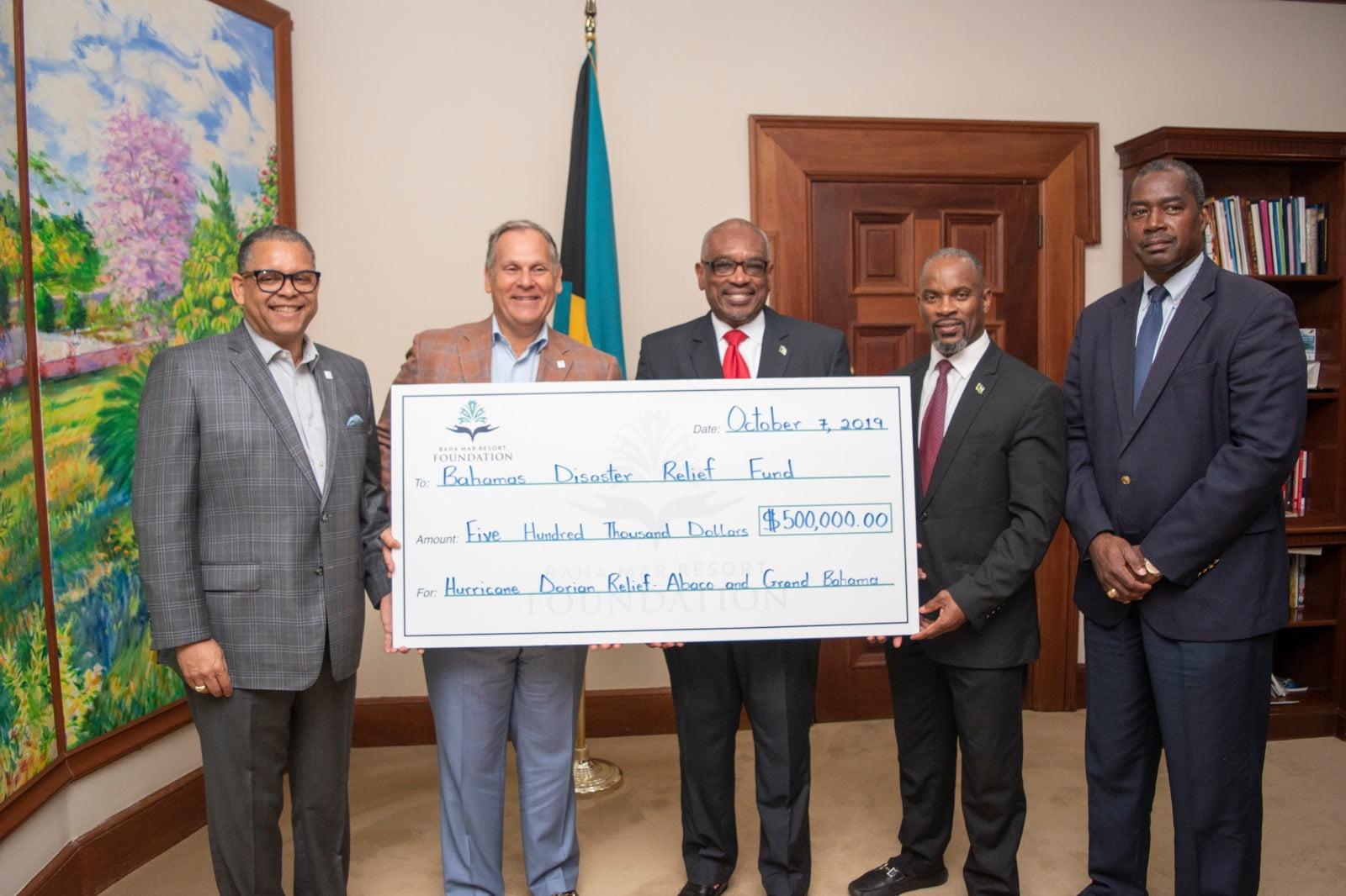 Baha Mar donates $500,000 for Hurricane Dorian relief