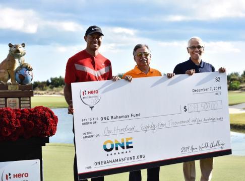 Hero World Challenge Donates $184,500 to the One Bahamas Fund