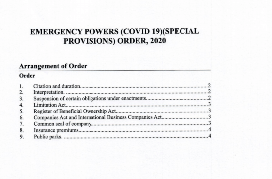 Updated emergency order suspends insurance payments and some govt. fees