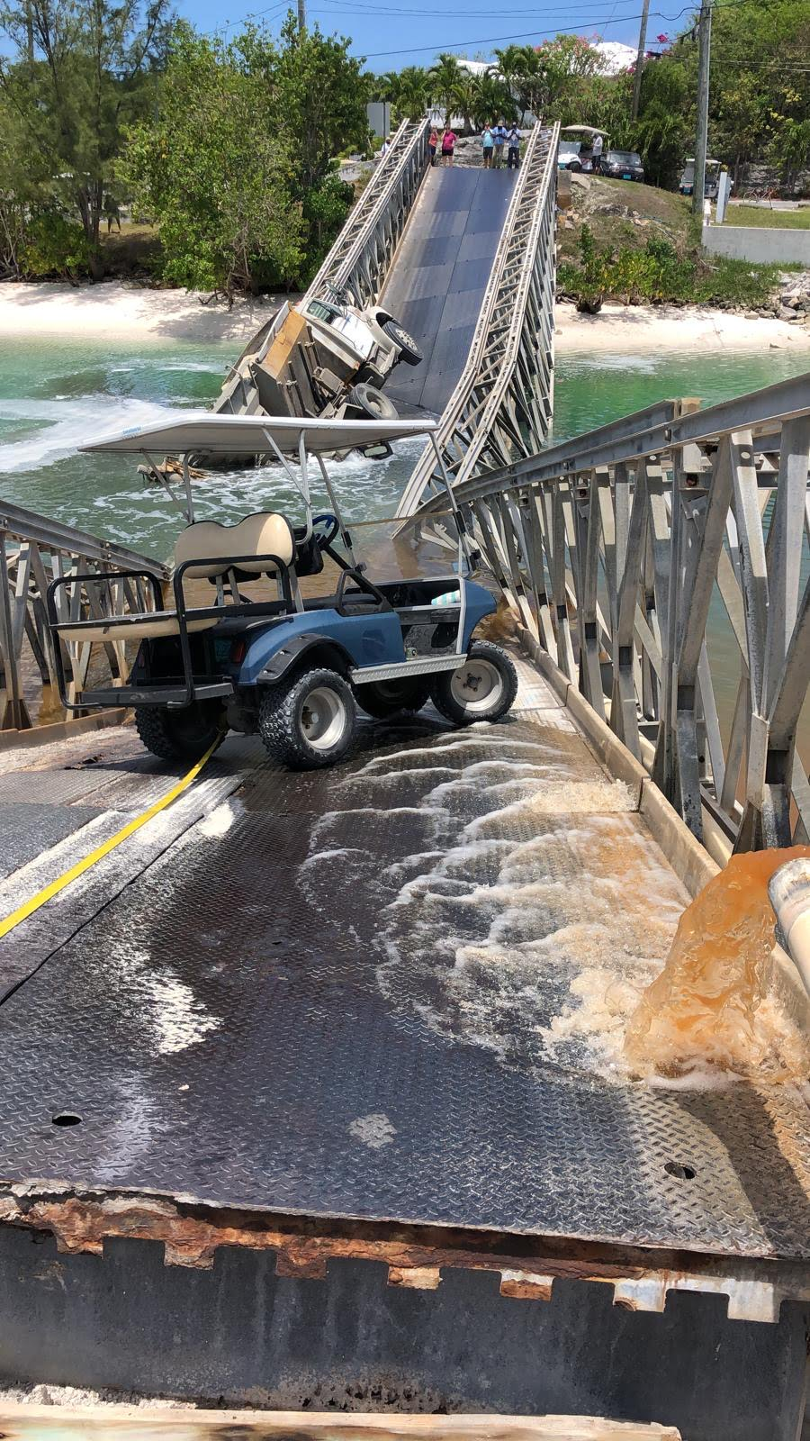 Spanish Wells bridge collapses, water main to Russell Island impacted