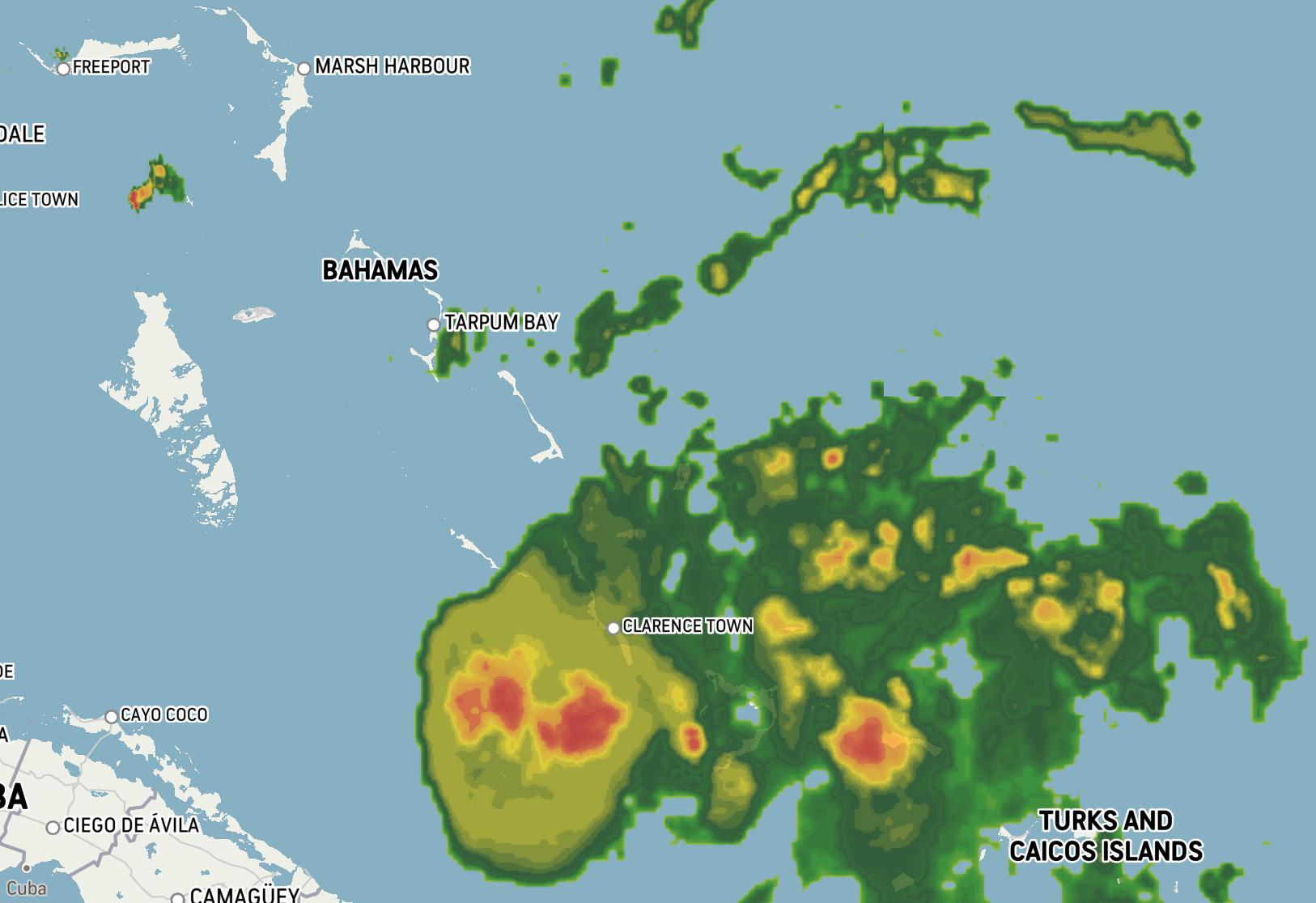 Central Bahamas feeling Isaias, storm seeking to reorganize