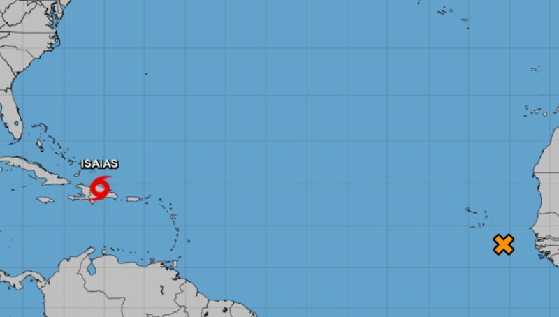 Isaias on track to become hurricane, second system develops in Atlantic