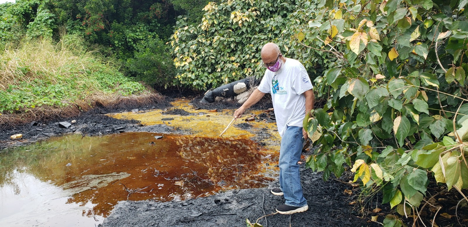 """Environmentalist condemns oil dumping as """"absolutely despicable"""""""