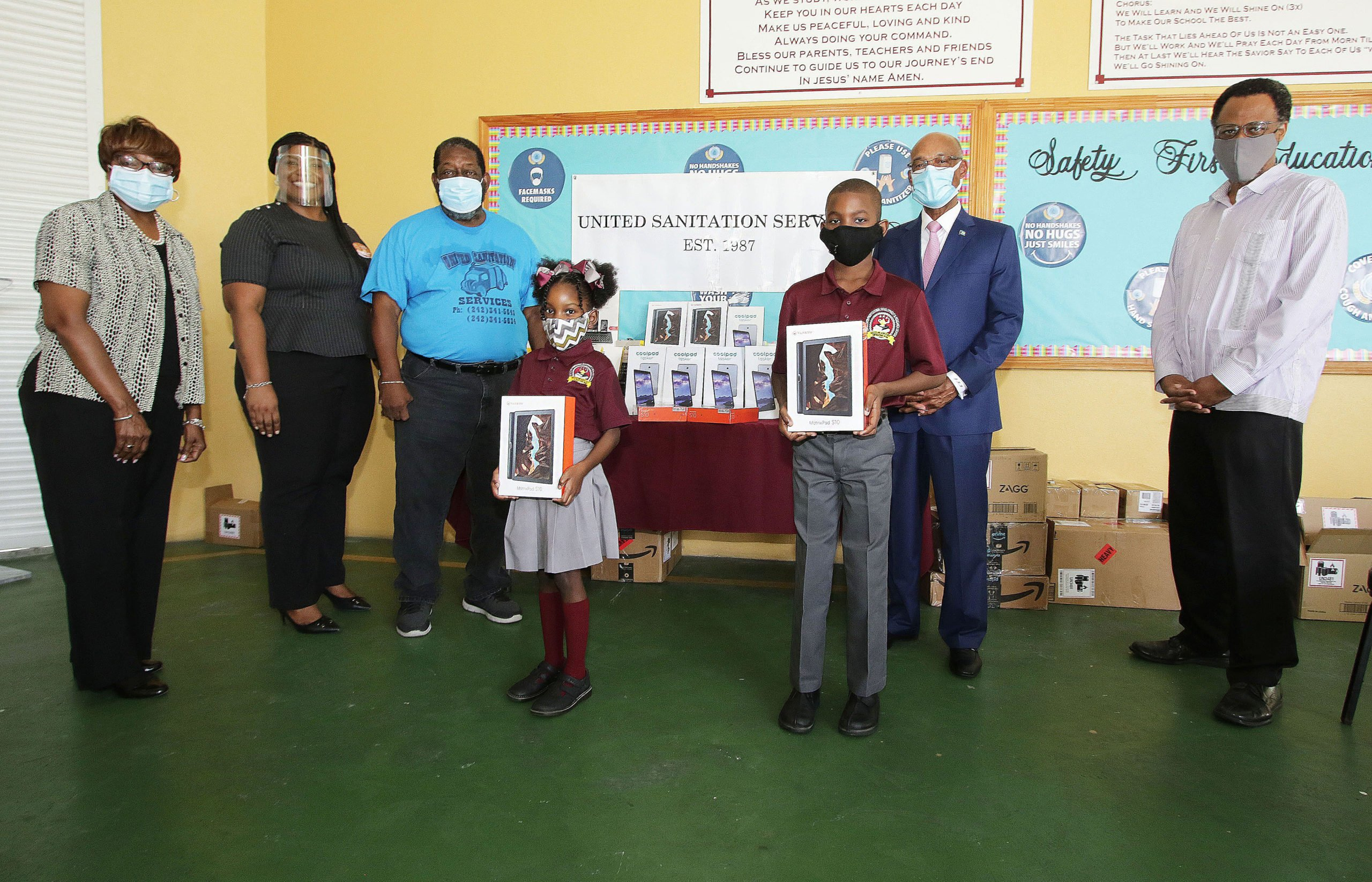 T.G. Glover School gifted tablets by local business