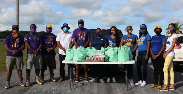 GB Disaster Relief Foundation partners with local sorority & fraternity to provide food to nearly 100 families