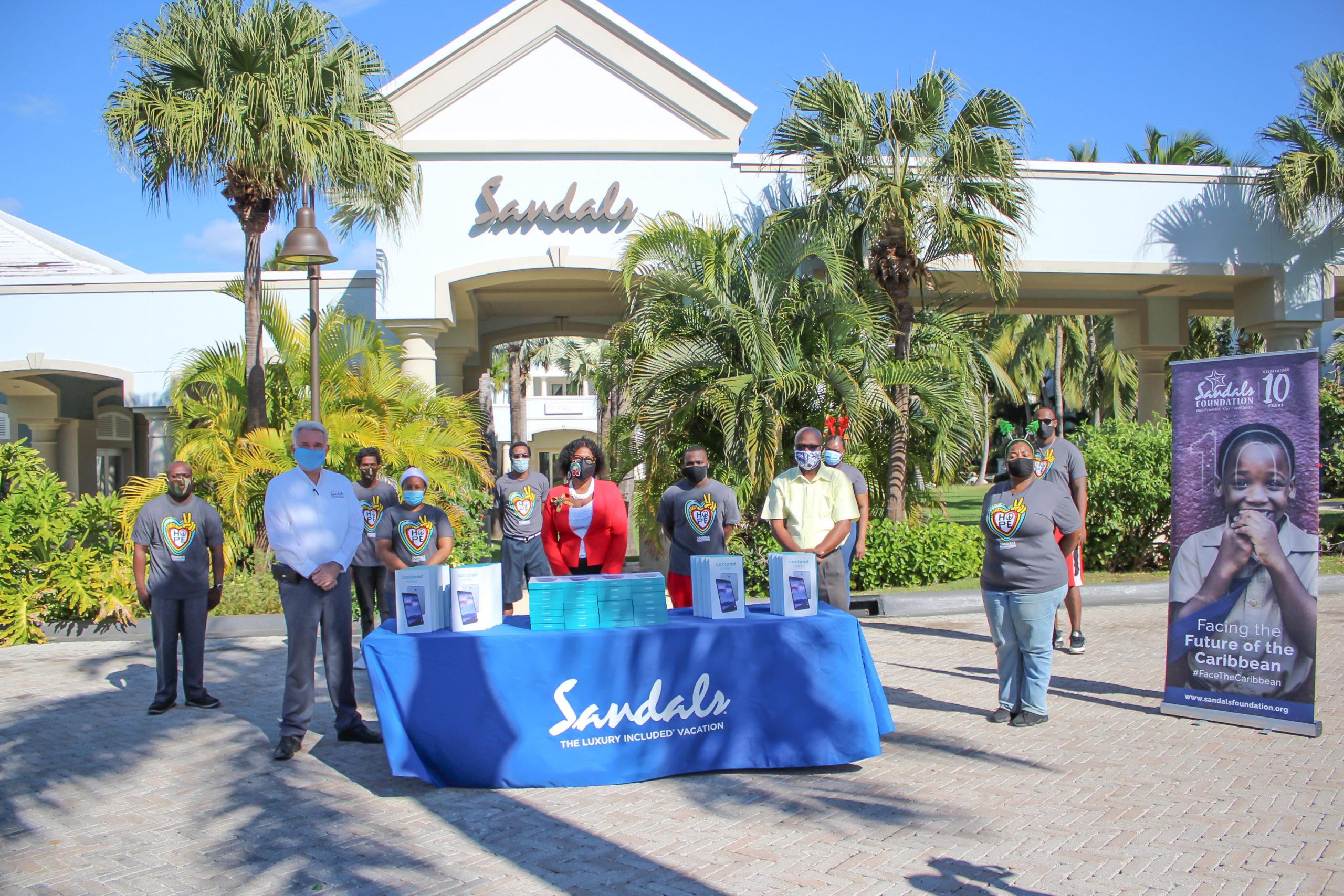 Sandals Foundation donates 200 tablets to Exuma students