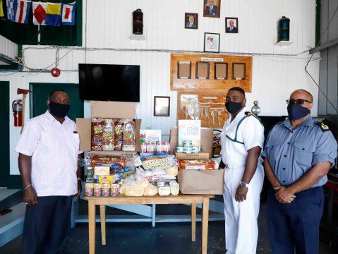 RBDF Harbour Patrol Unit provides groceries to Baptist convention