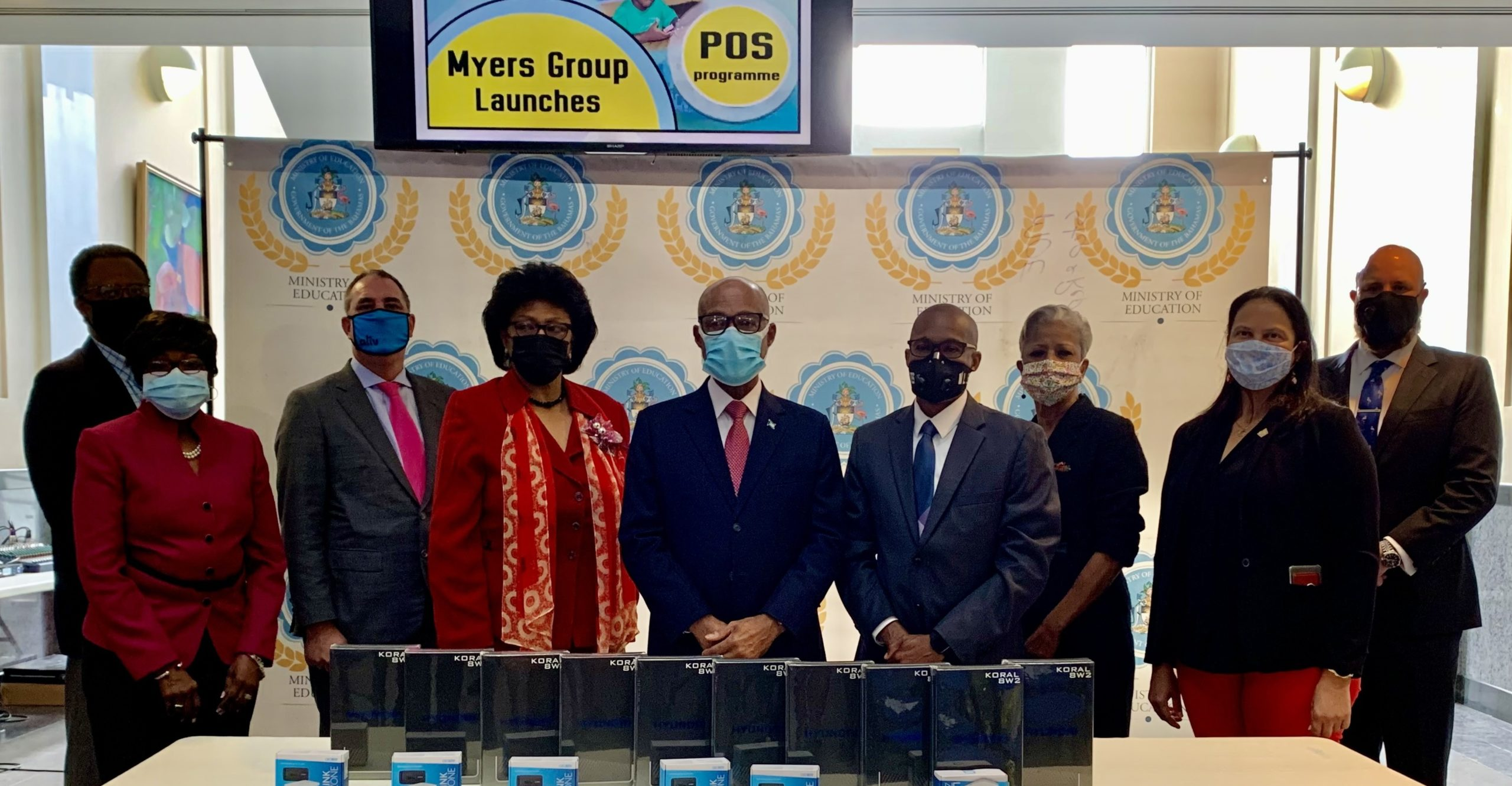Myers Group donates devices to MOE for students