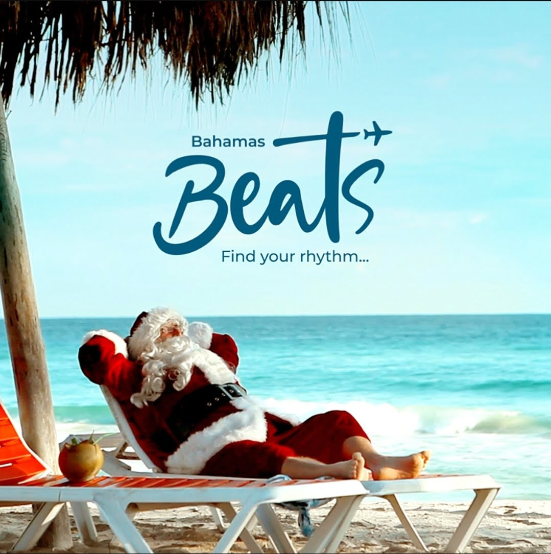 Santa arrives in The Bahamas for an extended stay on Stocking Island