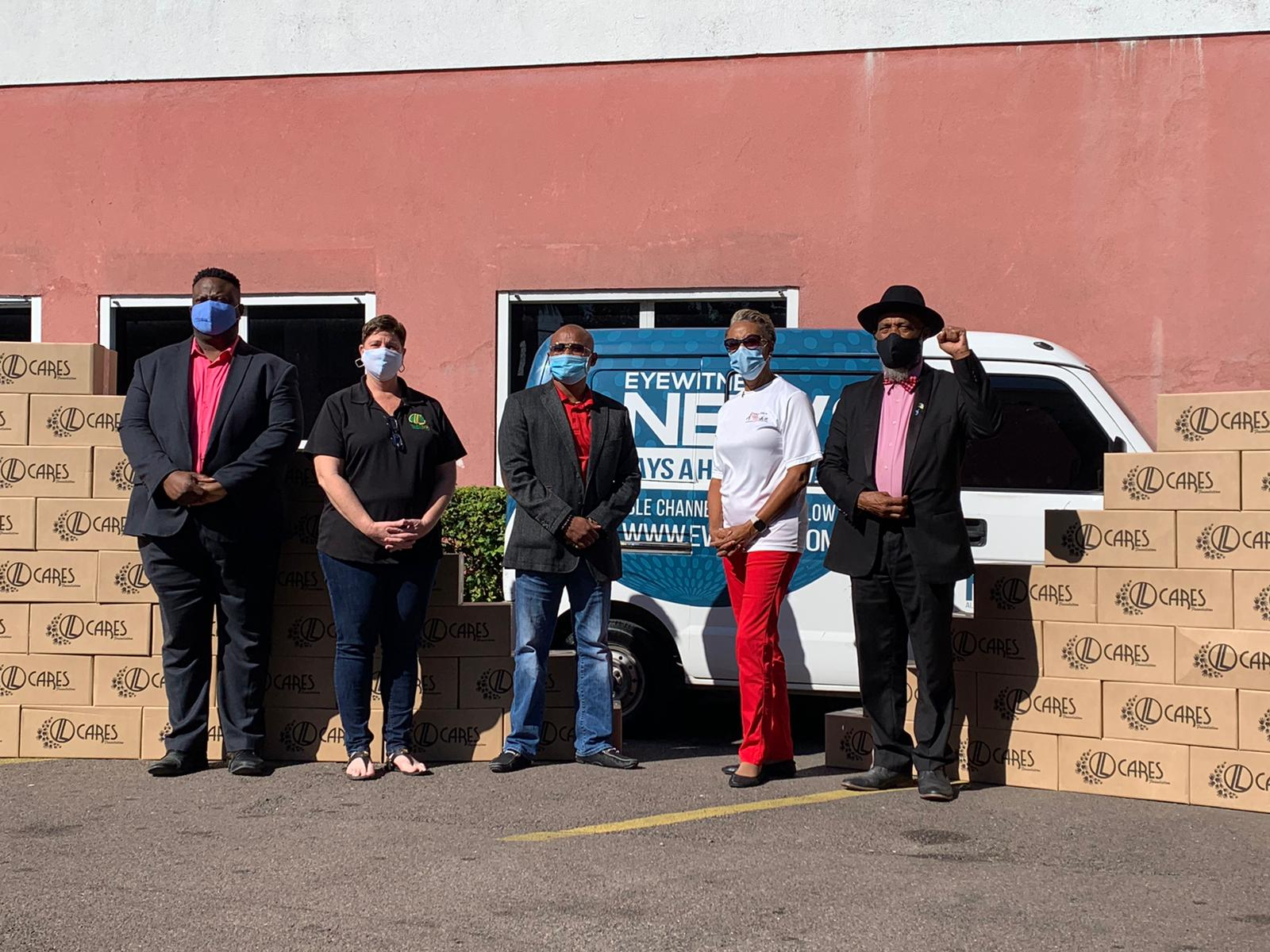 More than 100 food boxes donated to the AIDS Foundation