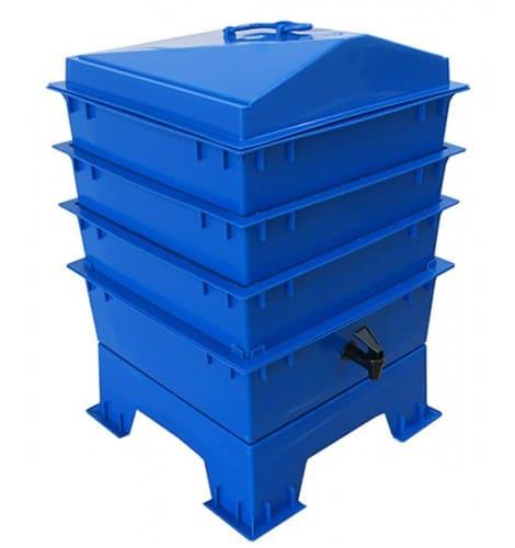 wormenbak blauw