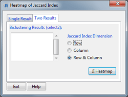 Jaccard Index Heatmap Window