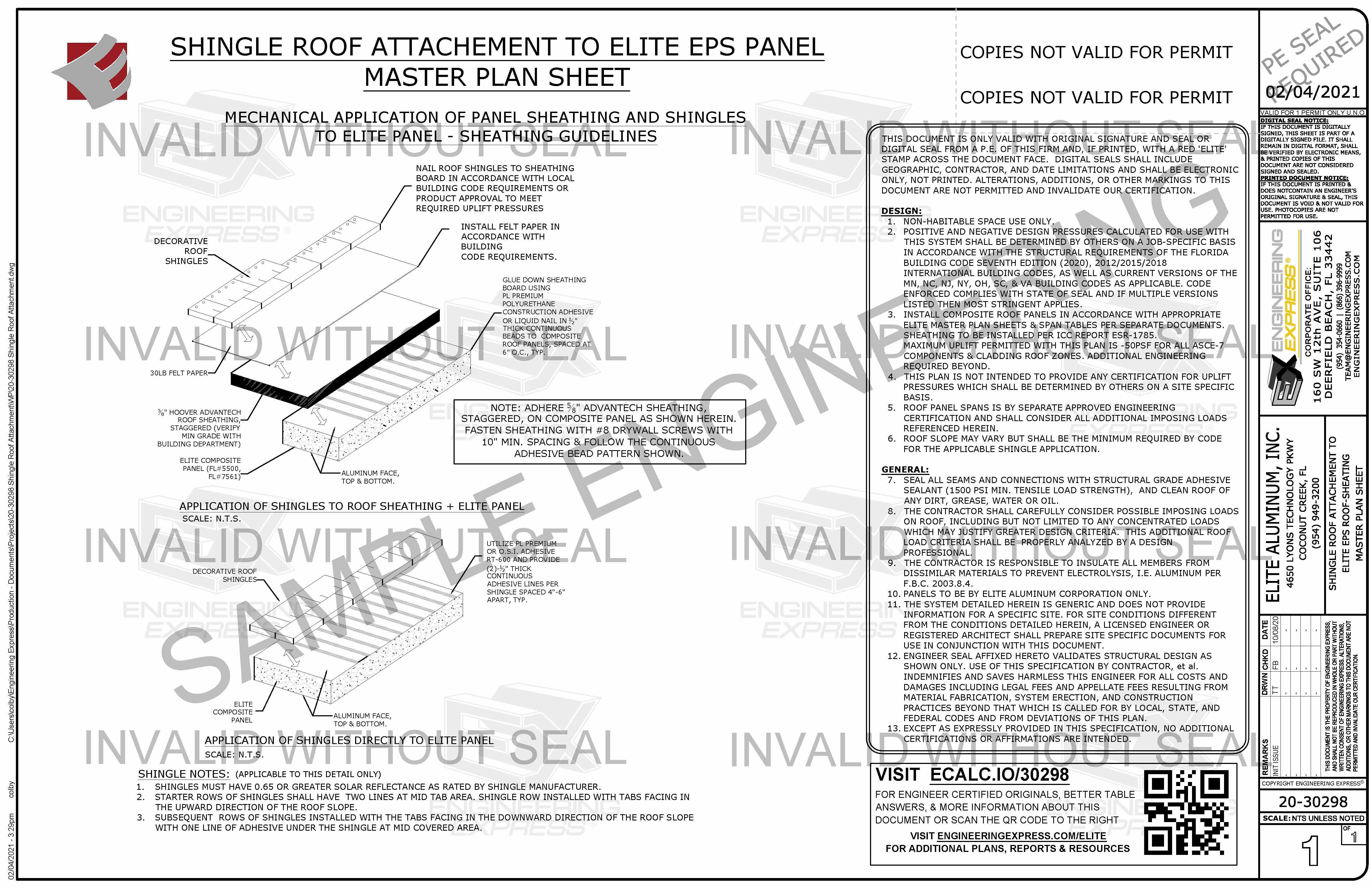 Elite Shingle Roof Attachment (20-30298)