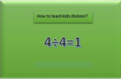 how to teach kids division