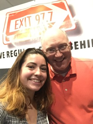 Liana with Chris Wienk, DJ and program director at WEXT