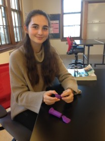 Chloé's first 3D printed iteration prosthetic