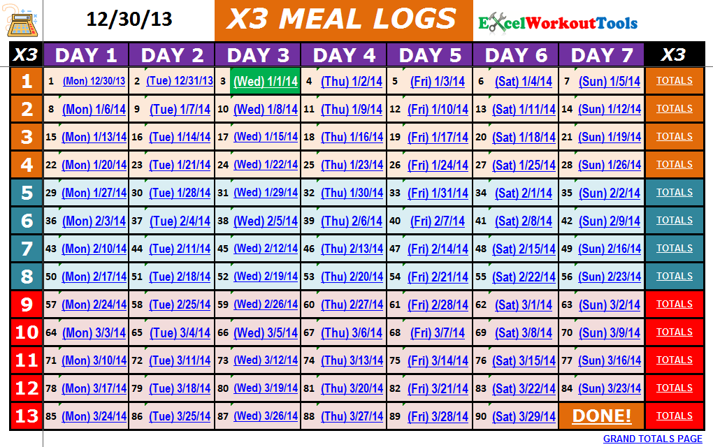 Calendar Schedule For P90x   Academic Calendar Xavier University
