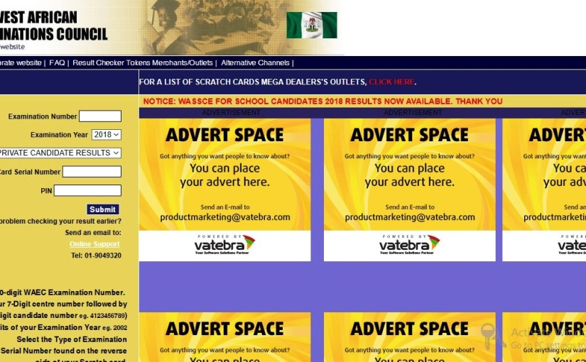 Check your WAEC Result with your Mobile Phone