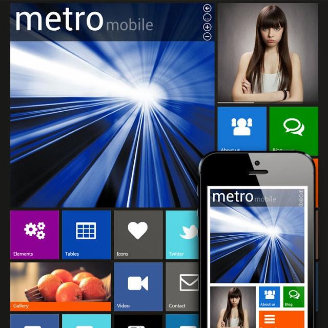 Metro Mobile Premium WordPress Mobile Template