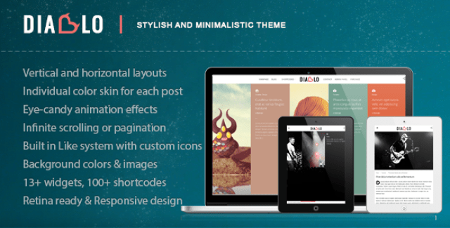 Diablo – Eye-candy Minimal Responsive WP Theme