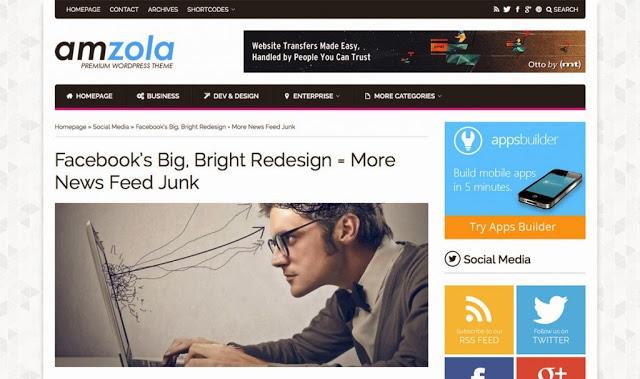 Amzola WordPress Theme