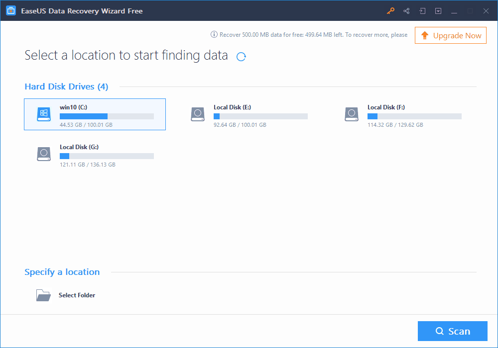How to Get Back Lost Partition Easily with EaseUS Data Recovery Tool