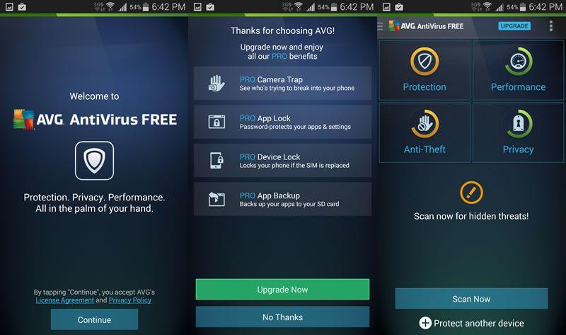 Image result for AVG Antivirus Free app