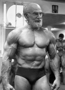 Oliver Sacks bodybuilder