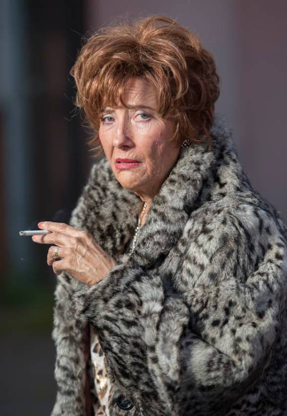 Having a wee puff: Emma Thompson as Cemolina in Barney Thomson