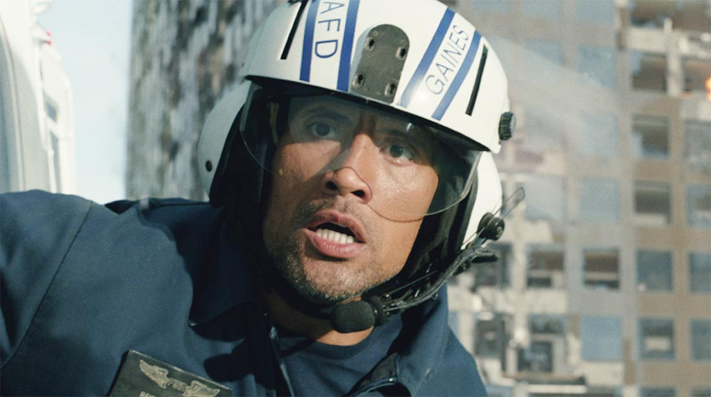 Dwayne Johnson as Ray Gaines in San Andreas
