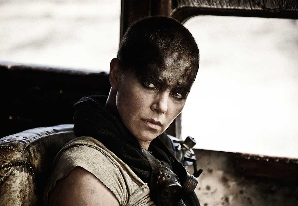 Charlize Theron as Furiosa in Mad Max