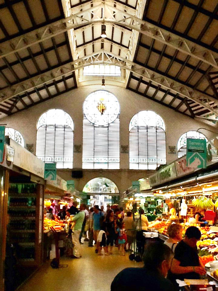 The bustling market in Valencia, where modern hunter gatherers meet