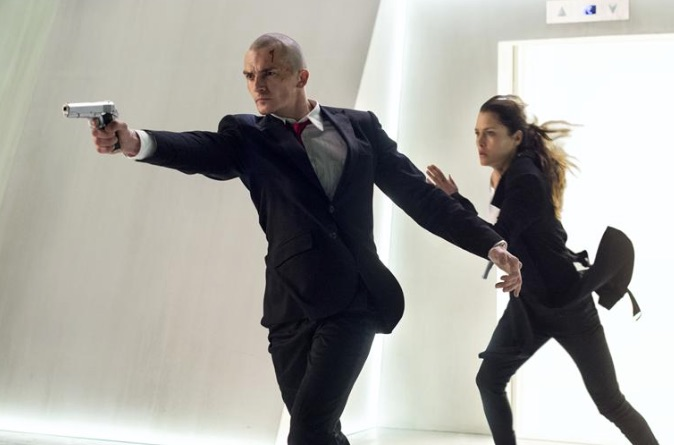 Rupert Friend and Hannah Ware in Hitman: Agent 47