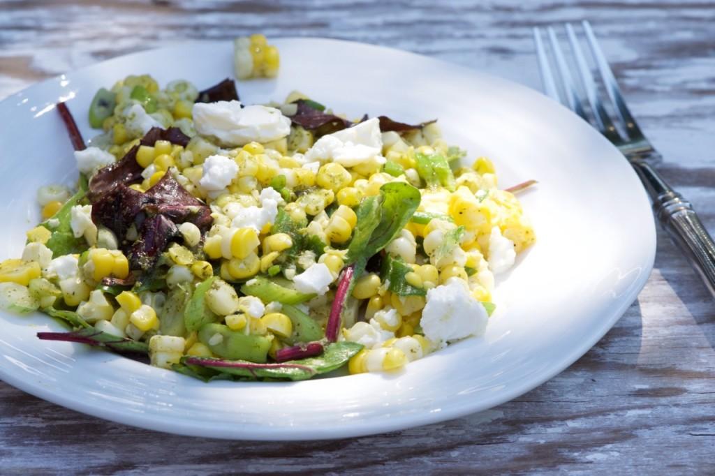 Corn and Scallion Salad