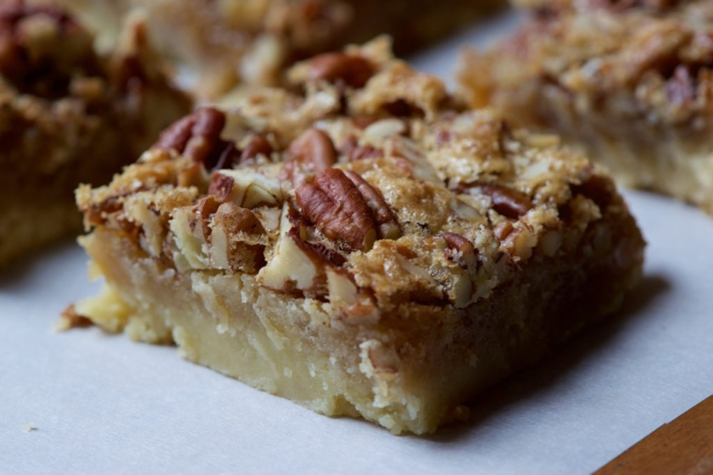 Food Recipe Maple Shortbread Bars