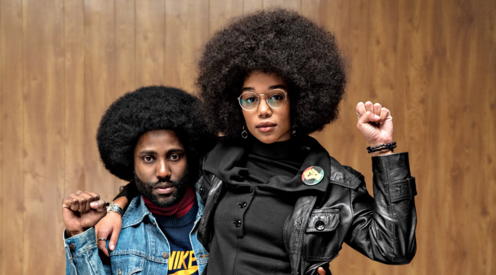BlacKkKlansman John David Washington Laura Harrier