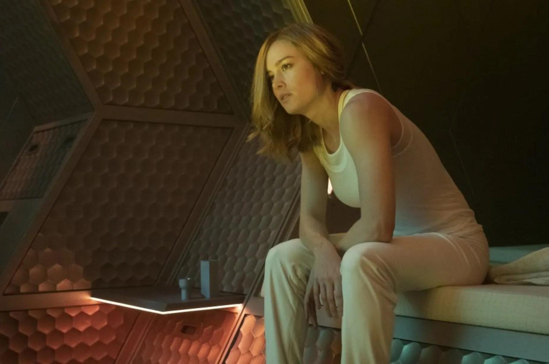 Brie Larson tank top wife beater captain marvel