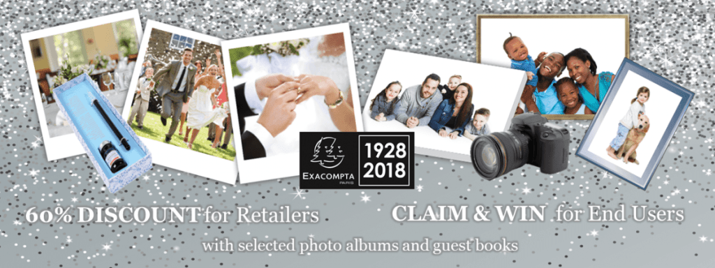 Exacompta photo albums and guest books promotion