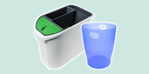 Exacompta Waste Paper and Recycling Bins, available from ExaClair Limited