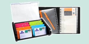 Exacompta business card holders and files