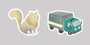 Maildor 'Mimi Stick' Stickers for children's activities such as animals and vehicles