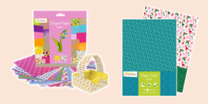 Avenue Mandarine Paper products including patterned paper and origami