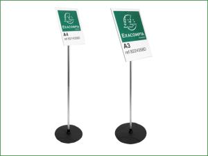 Exacompta A4 A3 Acrylic/Aluminium Sign Display Stands