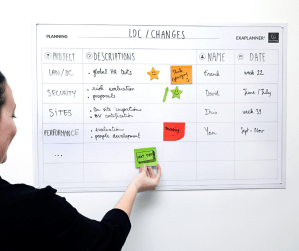 Exacompta ExaPlanner magnetic planning accessories and whiteboard wall calendar