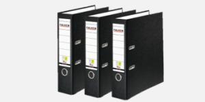 FALKEN Vegan-friendly black lever arch files