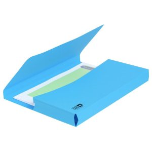 Exacompta Clean'Safe Antimicrobial Blue Document Wallet File