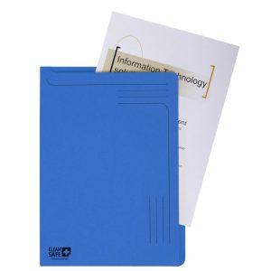 Exacompta Clean'Safe Antimicrobial Blue Slip File